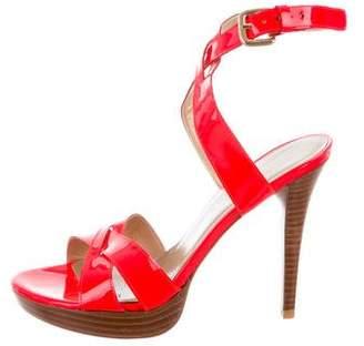 Stuart Weitzman Platform Patent Leather Sandals