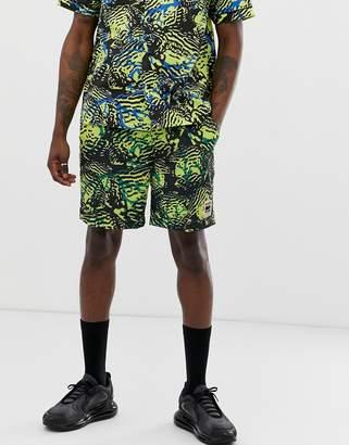 Billionaire Boys Club fish camo shorts in yellow