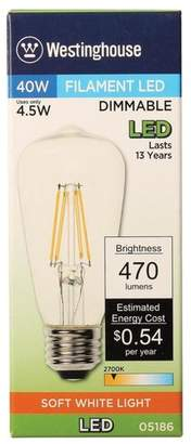 Westinghouse Lighting E26 Medium Base LED Vintage Filament Light Bulb Wattage: 40