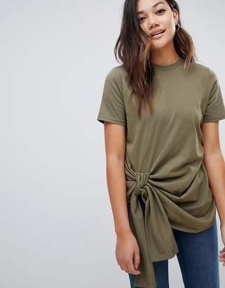 Asos Design DESIGN knot front t-shirt