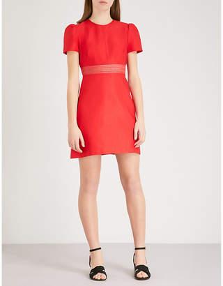 Sandro Cap-sleeve fitted woven mini dress