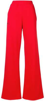 MSGM wide-leg jogging bottoms