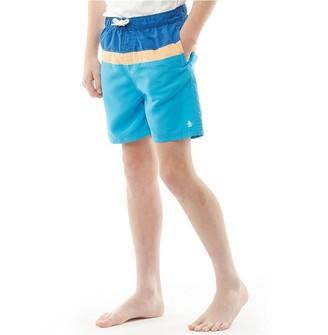 d58bb8cb Original Penguin Junior Boys Three Colour Block Swim Shorts Aqua Splash