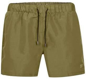 Topman Mens Khaki Swim Shorts