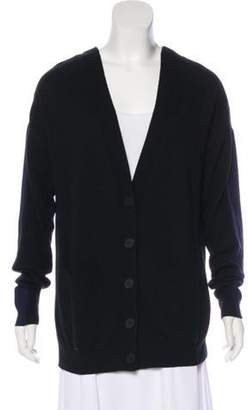 Stella McCartney Virgin Wool Medium-Weight Cardigan Black Virgin Wool Medium-Weight Cardigan
