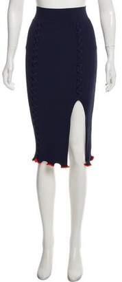 Opening Ceremony Knee-Length Rib Knit Skirt w/ Tags