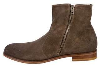 Doucal's Suede Double-Zip Chelsea Boots