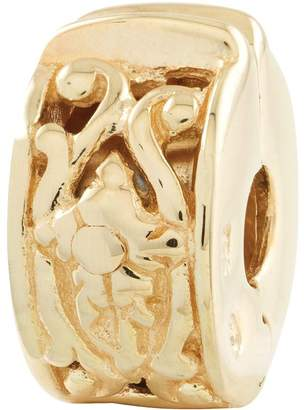 Bea Yuk Mui Prerogatives Gold-Plated Sterling Hinged FloralMotif Clip Bead