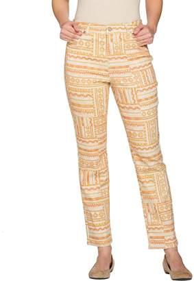 C. Wonder Geo Print 5-Pocket Slim Leg Ankle Jeans