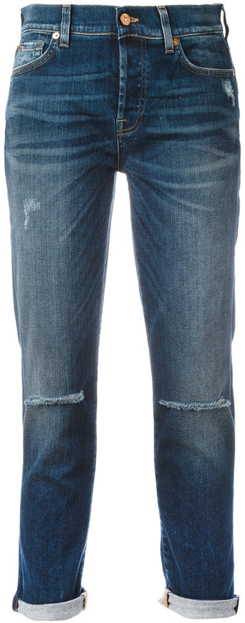 7 For All Mankind7 For All Mankind ripped boyfriend jeans