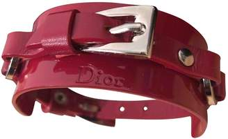 Christian Dior Red Patent leather Bracelets