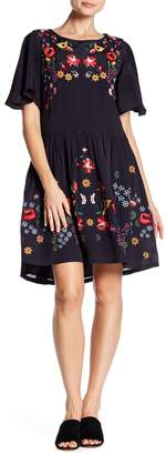 French Connection Alice Embroidered Dress
