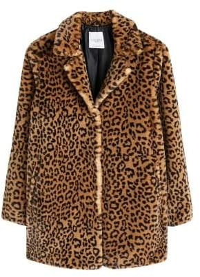 MANGO Violeta BY Animal print faux fur coat