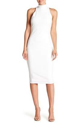 Hale Bob Mock Neck Midi Dress