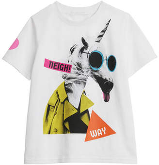 Burberry Unicorn Graphic Short-Sleeve Tee, Size 3-14