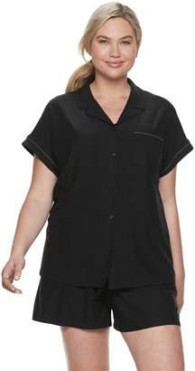e6561009ccb45b Apt. 9 Plus Size Solid Sleep Shirt   Pajama Shorts Set