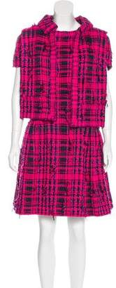 Chanel Tweeded Gauze Dress Set