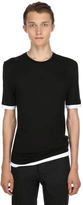 Neil Barrett Slim Fit Viscose T-Shirt