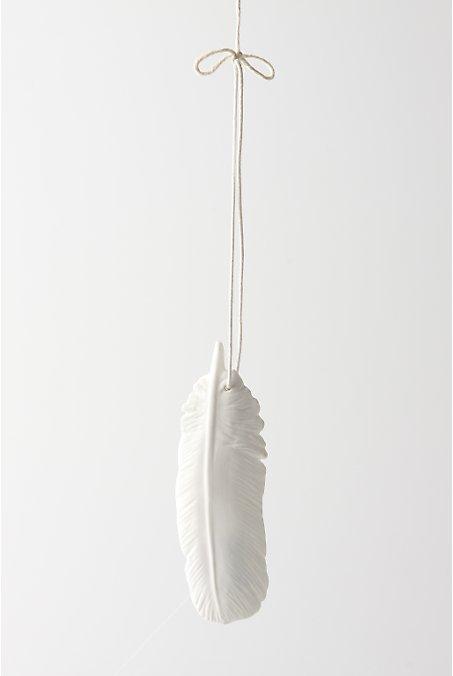 Ceramic Plume Ornament, Medium