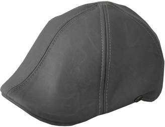 Epoch Men's Leather Feel Ivy Newsboy Duckbill Cap Hat (S/m)
