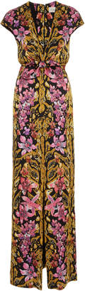 Temperley London Safari Printed Tie Dress