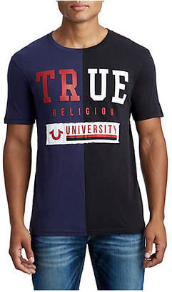 True Religion MENS COLORBLOCK TR UNIVERSITY GRAPHIC TEE
