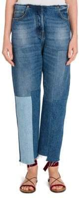 Valentino Cropped Patchwork Jeans