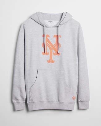 Express New York Mets Graphic Fleece Hoodie
