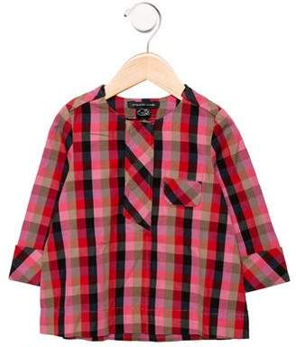 Little Marc Jacobs Girls' Checked Long Sleeve Top