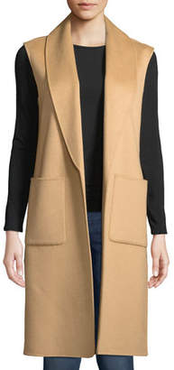 Neiman Marcus Luxury Double-Faced Shawl-Collar Cashmere Vest