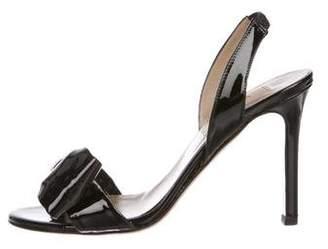 Valentino Patent Leather Peep-Toe Sandals