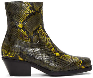 Misbhv Green Snake Iggy Boots