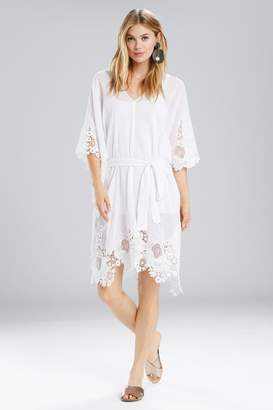 Natori Lucia Caftan With Tie and Lace