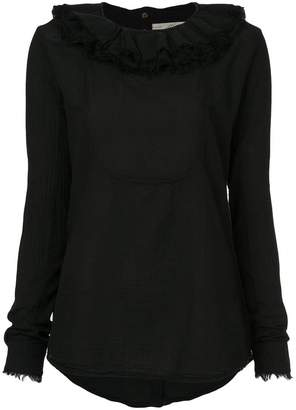 Aleksandr Manamis frill-collar fitted top