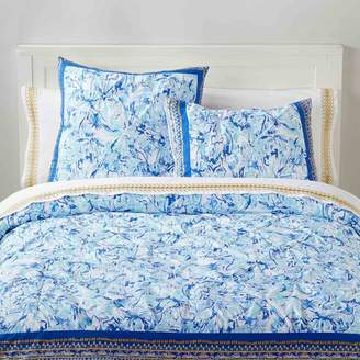 Pottery Barn Teen Lilly Pulitzer Elephant Appeal Duvet Cover, Twin/Twin XL, Ikat Blue