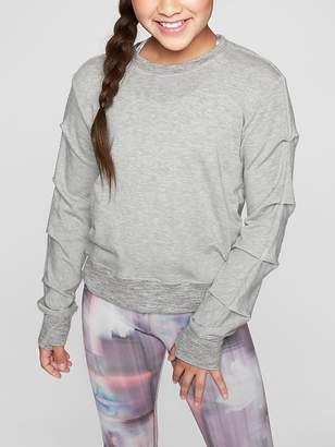 Athleta Girl Pleats and Thank You Sweatshirt