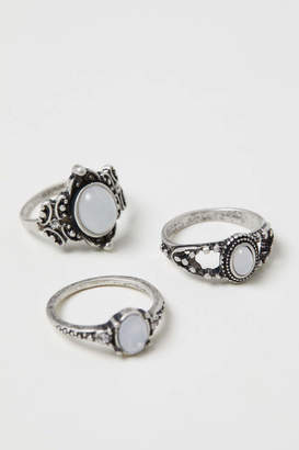 H&M 3-pack Rings - Silver-colored - Women