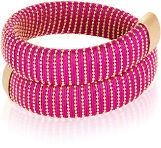 Carolina Bucci Magenta Caro Gold-Plated Bracelet