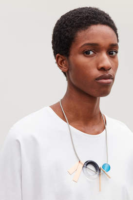 Cos GRAPHIC LEATHER NECKLACE