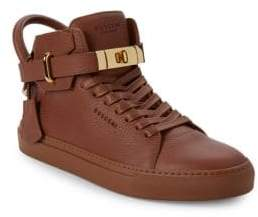 Buscemi Leather Ankle StrapHigh-Top Sneakers