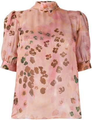 Blumarine printed bow detail blouse