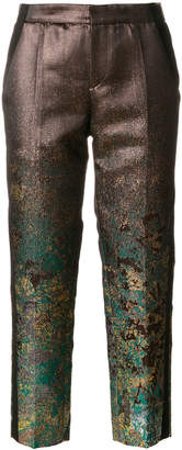 A.F.Vandevorst metallic sheen cropped trousers