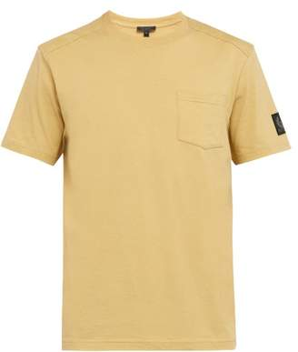 Belstaff Thom Crew Neck Cotton T Shirt - Mens - Yellow