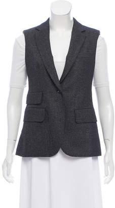 Max Mara Tweed Notch-Lapel Vest