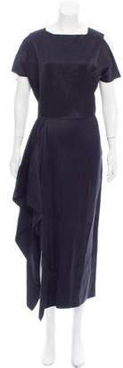 Zero Maria Cornejo Draped Maxi Dress