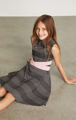 BCBGMAXAZRIA Crisscross Mesh Knit Dress