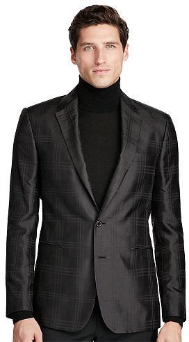 Polo Ralph LaurenPolo Ralph Lauren Connery Plaid Silk Sport Coat