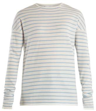 Barrie - Thistle Striped Cashmere Sweater - Womens - Blue White