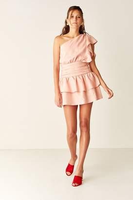 SUBOO One Shoulder Mini Dress - Pale Pink