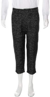 Matiere Alpaca & Mohair Wool-Blend Cropped pants
